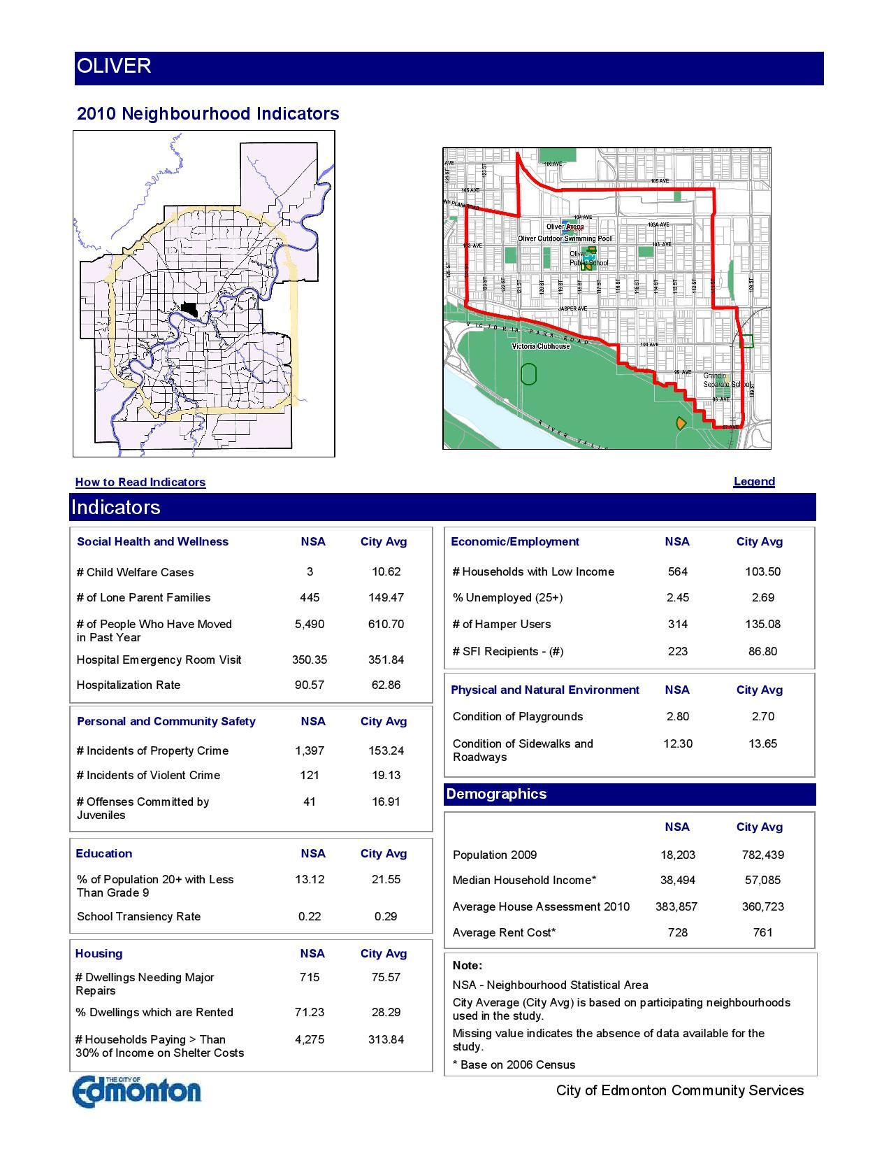 Oliver Edmonton condo prices and incomes